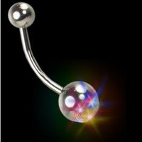 Flashing LED Light Up Blinking Belly Button Ring #B64