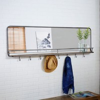 Entryway Mirror + Hooks - Large