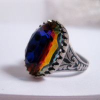 Crystal Crowned Cocktail Ring