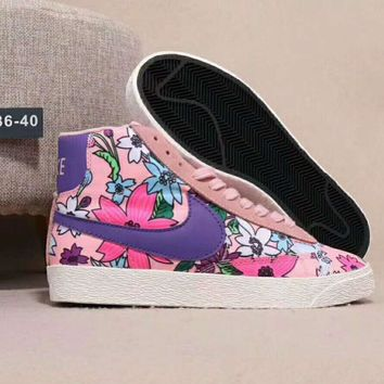 Nike Blazer Mid print Women Sneakers Flower pink-purple hook H-JJ-MYZDL