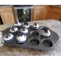Evelots 12 Cup Deluxe Mini Cheese Cake Pan - Desserts, Cupcakes, Muffins