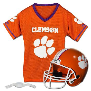 Clemson Tigers Youth Helmet and Jersey Set