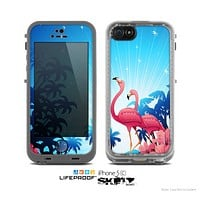 The Vibrant Flamingo Scenery Skin for the Apple iPhone 5c LifeProof Case