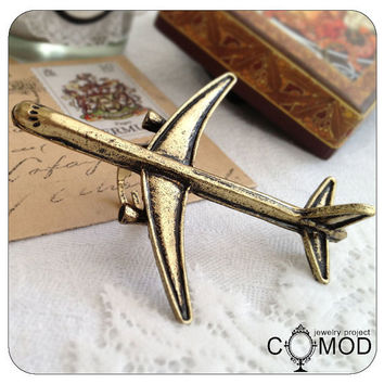 Huge bronze airplane ring by Oldyshop on Etsy