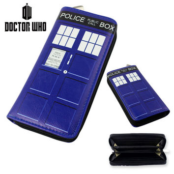 Cartoon Movie TV Doctor Who Wallets Purse Toy Zipper Long Wallet Xmas Gifts 19.5cm