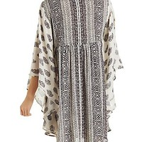 PAISLEY PRINT KAFTAN DRESS