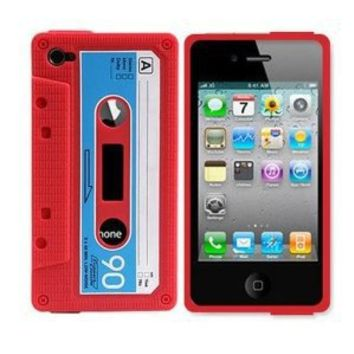 Leegoal(TM) Classic Cassette Silicone Case Skin for Iphone 4 4th 4g