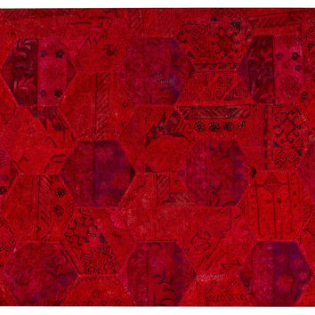 Honeycomb Rug, Red, Area Rugs