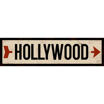 Personalized Cream Right Arrow Street Sign Wood Sign