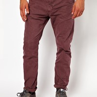 River Island | River Island Bugsey Chinos in Berry at ASOS