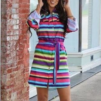 Serape 3/4 women's Dress
