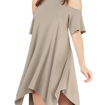 Short Sleeve Cut-Out Mini Dress