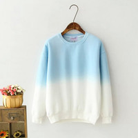 White And Blue Sweater