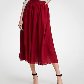 Cotton Gauze Midi Skirt | Ann Taylor