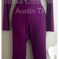 Selena Quintanilla purple criss cross jumpsuit with bolero hot costume 3 Sizes Available: S - M- L