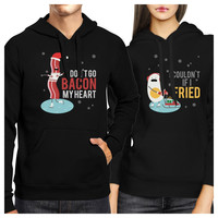 Bacon And Egg Winter Version Couple Hoodies Cute Holiday Gift Ideas