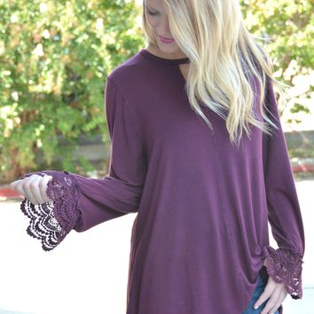 It's The Simple Things Top - Vintage Maroon
