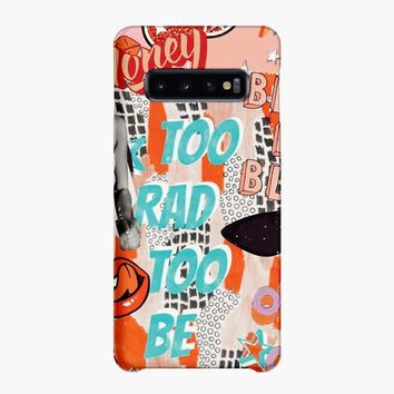 Too Rad Too Be Sad Collage Samsung Galaxy S10 Case