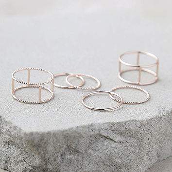 My Love is True Rose Gold Ring Set