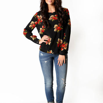 Nighttime florals top