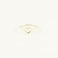 MINI GOLD HEART RING -