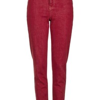 MOTO Red Mom Jeans - New In