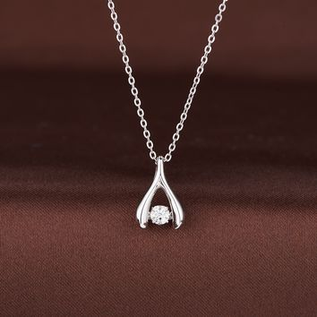 Open Shaped Swarovski Crystal Necklace