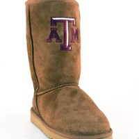 Gameday Texas A&M Ladies Sheepskin Roadie Boots - Hickory
