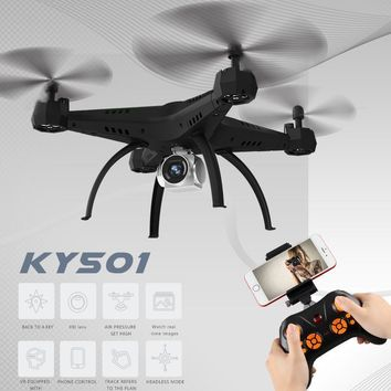 XKY KY501 2.4Ghz Large RC Drone Selfie Drone w/ Wifi FPV 5.0MP 720P HD Camera Altitude Hold &