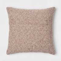 Marled Sweaterknit Oversize Square Throw Pillow Blue - Threshold™