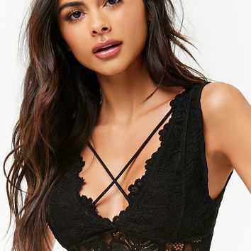 Scalloped Crochet Bralette