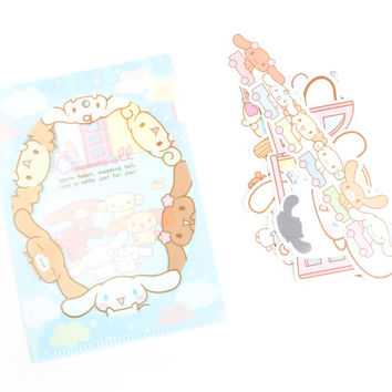 Cinnamoroll Stickers with File Folder