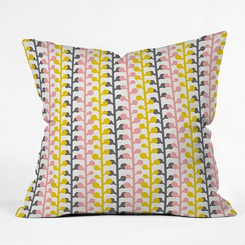 Heather Dutton Sprig Pink Lemonade Throw Pillow
