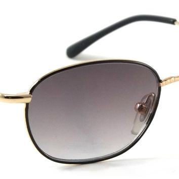 Retro Round Sunreader Soler Vintage Metal Spring Hinge Frame Reading Sunglasses
