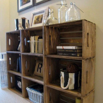 Rustic Storage Crate - Wooden Crate for Building Shelving