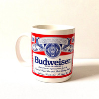 Budweiser Coffee Mug - Late 80s/ Early 90s Mug - Beer Mug