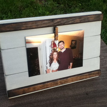 Rustic Picture Frame - Rustic Decor - Wooden Picture Frame 4X6 - Rustic Wall Decor