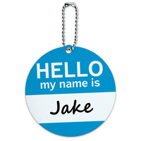 Jake Hello My Name Is Round ID Card Luggage Tag