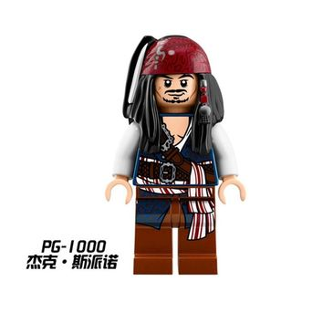 PG1000 Diy Buildng Blocks Bricks legoing figures Single Sale Jack Sparrow Pirates of the Caribbean 71042 Toys for Children Gifts