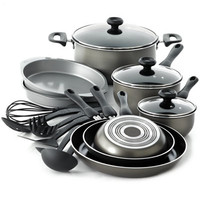 Farberware Nonstick Dishwasher Safe 17-Pc. Cookware Set - Cookware - Kitchen - Macy's