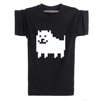 Undertale Annoying Dog Printed Anime Unisex tee t-shirt