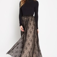 Black Proposal Tulle Maxi Skirt