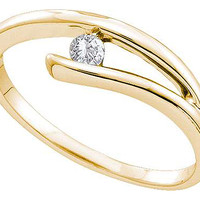 Diamond Ladies Fashion Ring with Round Center in 14k Gold 0.08 ctw