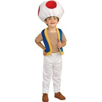 Boys Toad Costume Deluxe - Super Mario Brothers