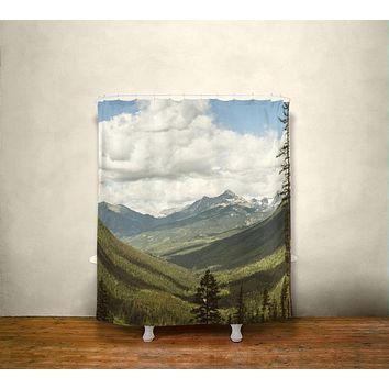 The Great Unknown Canada Mountains Shower Curtain