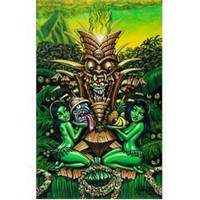 Zombie Tiki by Big Toe Tattoo Art Canvas Print