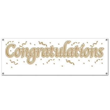 Congratulations Sign Banner - All-Weather #88105