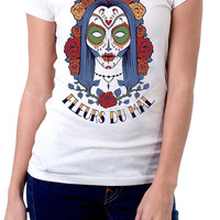Fleurs Du Mal Sugar Skulls Graphic T-shirts | Sublimated Shirts | Womens Graphic Tees | Hipster Shirts
