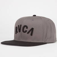 Rvca Blocks Mens Snapback Hat Grey One Size For Men 23824711501