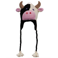 Calvin The Cow Peruvian Knit Hat